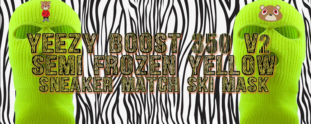 Shop ski masks to match the Frozen Yellow Yeezy 350 Boost sneakers