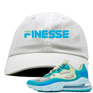 Nike Air Max 270 React Hyper Jade Sneaker Hook Up Finesse White Dad Hat