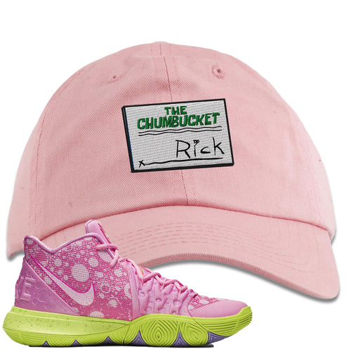 Spongebob Squarepants x Nike Kyrie 5 Patrick Star Sneaker Match Rick Light Pink Dad Hat