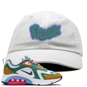 WMNS Air Max 200 Mystic Green Sneaker Hook Up Fresh White Dad Hat