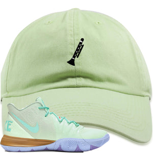Nike Kyrie 5 Squidward Sneaker Hook Up Clarinet Mint Dad Hat