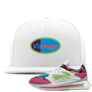 OBJ x Nike Air Max 720 Sneaker Hook Up Vintage Logo White Snapback