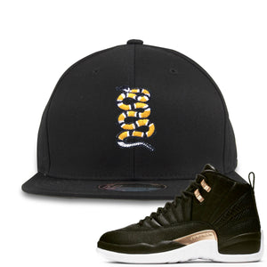 Jordan 12 WMNS Reptile Sneaker Hook Up Coiled Snake Black Snapback