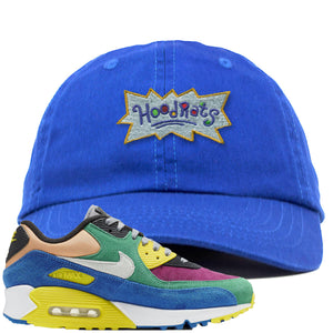 Nike Air Max 90 Viotech 2.0 Sneaker Hook Up Hoodrats Blue Dad Hat
