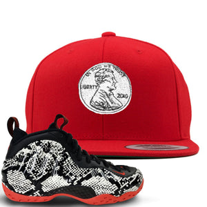 Foamposite One Snakeskin Sneaker Hook Up Penny Red Snapback