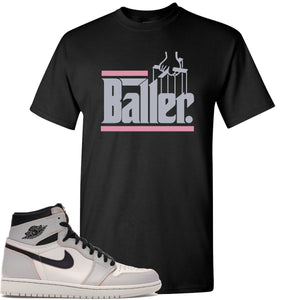 This black and purple t-shirt matches great with your Nike SB x Air Jordan 1 OG Court purple shoes
