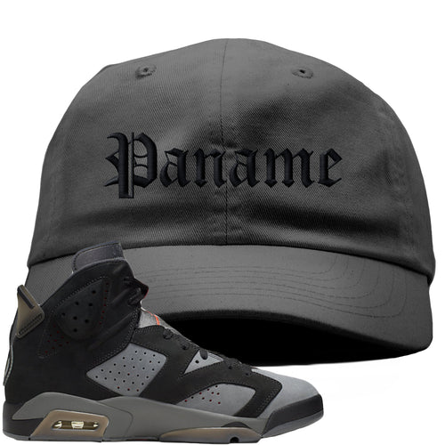 Air Jordan 6 PSG Sneaker Match Paname Dark Gray Dad Hat