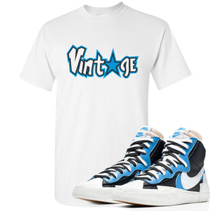 Air Max Sacai Blazer University Blue Sneaker Hook Up Vintage Logo with Star White T-Shirt