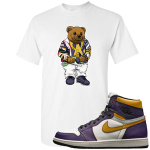 Nike SB x Air Jordan 1 OG Court Purple Sneaker Hook Up Sweater Bear White T-Shirt