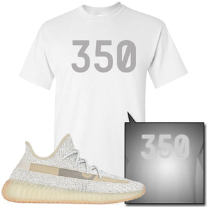 Adidas Yeezy Boost 350 v2 Lundmark Reflective Sneaker Hook Up 350 White T-Shirt