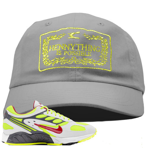Nike Air Ghost Racer Neon Yellow Sneaker Match Hennything is Possible Light Gray Dad Hat