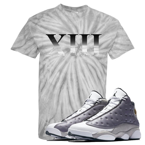 Jordan 13 Atmosphere Grey XIII Tie Dye Light Gray Shirt