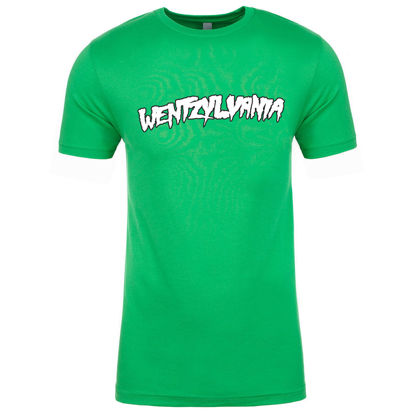 the kelly green Carson Wentz Philadelphia Eagles inspired Kelly Green t-shirt is solid kelly green with a white and black wentzylvania logo printed on the front, inspired by Carson Wentz