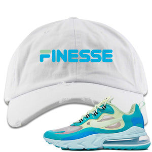 Nike Air Max 270 React Hyper Jade Sneaker Hook Up Finesse White Distressed Dad Hat