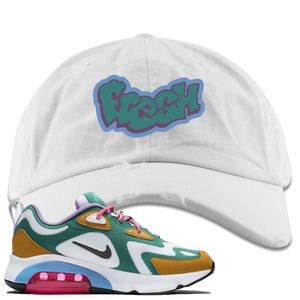 Nike WMNS Air Max 200 Mystic Green Sneaker Hook Up Fresh White Distressed Dad Hat