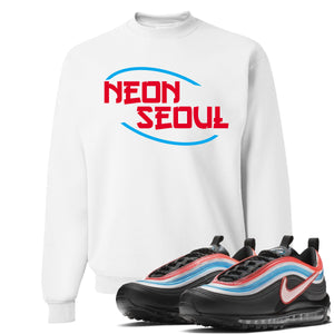 Air Max 97 Neon Seoul Sneaker Hook Up Neon Seoul in English White Sweater
