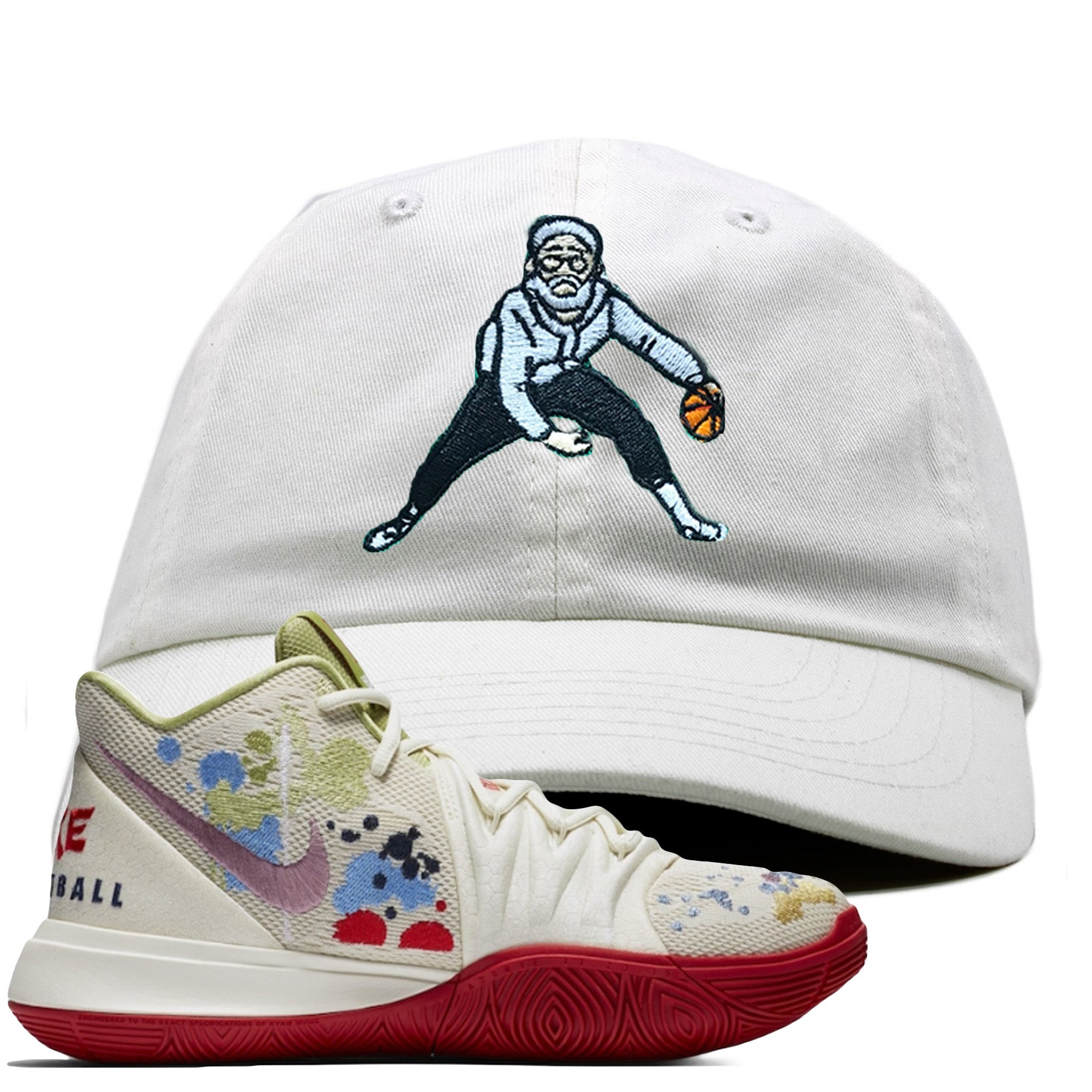online store 2cdab 16531 Bandulu x Nike Kyrie 5 Sneaker Match Uncle Drew White Dad Hat
