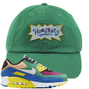Nike Air Max 90 Viotech 2.0 Sneaker Hook Up Hoodrats Kelly Green Dad Hat