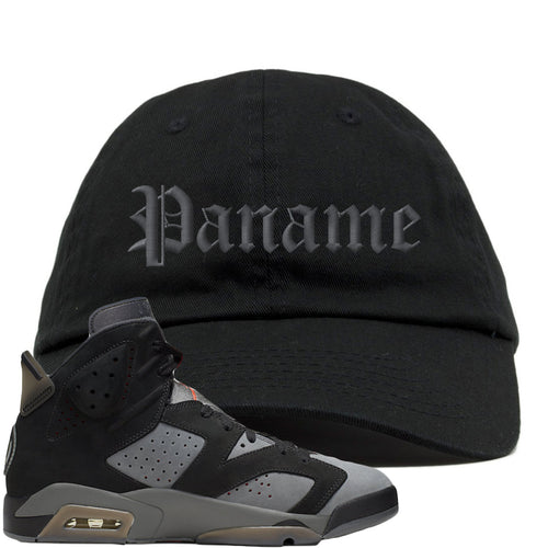 Air Jordan 6 PSG Sneaker Match Paname Black Dad Hat