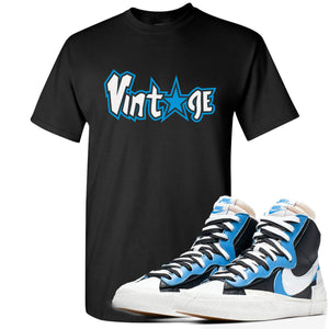 Air Max Sacai Blazer University Blue Sneaker Hook Up Vintage Logo with Star Black T-Shirt