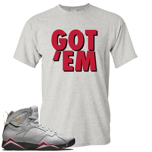 Air Jordan 7 Reflections of a Champion Sneaker Match Got Em Sports Gray T-Shirt