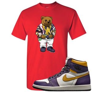 This red t-shirt matches great with your Nike SB x Air Jordan 1 OG Court purple shoes