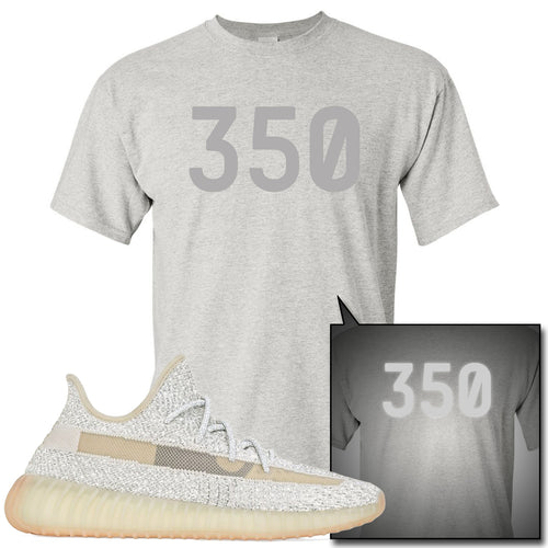 Adidas Yeezy Boost 350 v2 Lundmark Reflective Sneaker Match 350 Sports Grey T-Shirt
