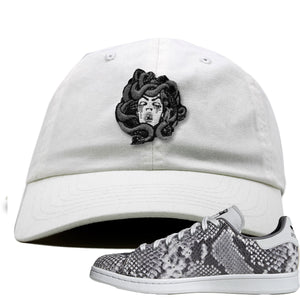 Adidas Stan Smith Grey Snakeskin Sneaker Hook Up Medusa White Dad Hat