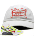 Nike Air Ghost Racer Neon Yellow Sneaker Hook Up Hennything is Possible White Dad Hat