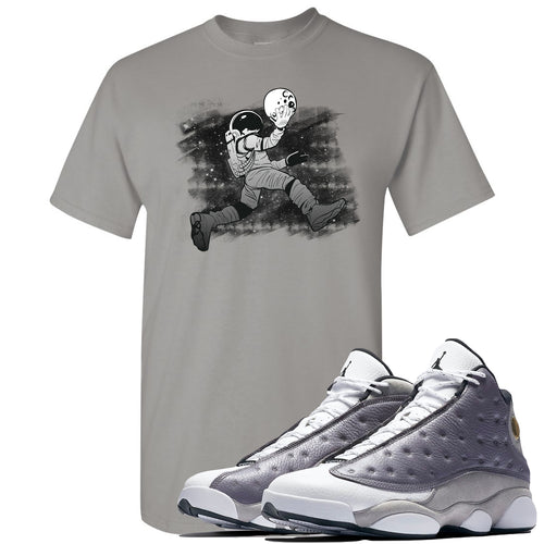 Jordan 13 Atmosphere Grey Astronaut Jump Light Gray Shirt