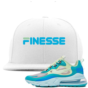 Nike Air Max 270 React Hyper Jade Sneaker Hook Up Finesse White Snapback