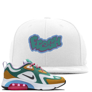 WMNS Air Max 200 Mystic Green Sneaker Hook Up Fresh White Snapback