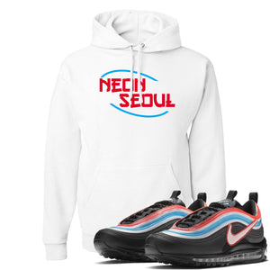 Air Max 97 Neon Seoul Sneaker Hook Up Neon Seoul in English White Hoodie