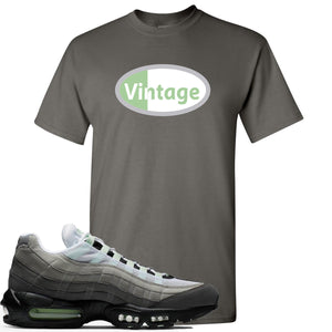 Nike Air Max 95 Fresh Mint Sneaker Hook Up Vintage Oval Logo Charcoal T-Shirt