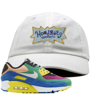 Nike Air Max 90 Viotech 2.0 Sneaker Hook Up Hoodrats White Dad Hat