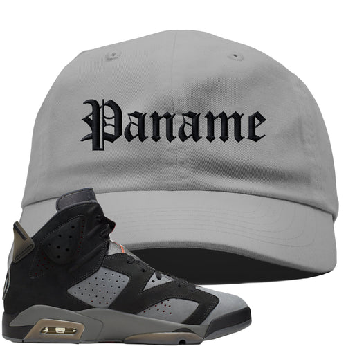 Air Jordan 6 PSG Sneaker Match Paname Light Gray Dad Hat