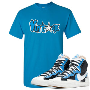 Air Max Sacai Blazer University Blue Sneaker Hook Up Vintage Logo with Star Blue T-Shirt