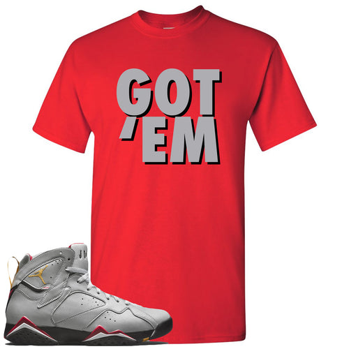Air Jordan 7 Reflections of a Champion Sneaker Match Got Em Red T-Shirt