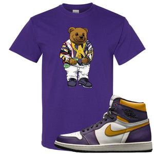 Nike SB x Air Jordan 1 OG Court Purple Sneaker Hook Up Sweater Bear Purple T-Shirt