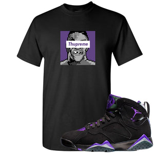 Air Jordan 7 Ray Allen Sneaker Hook Up Thupreme Black T-Shirt