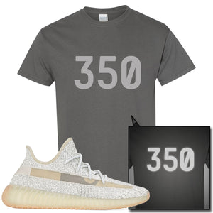 Adidas Yeezy Boost 350 v2 Lundmark Reflective Sneaker Hook Up 350 Charcoal Gray T-Shirt