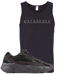 Adidas Yeezy Boost 700 v2 Vanta Sneaker Hook Up Calabasas Black Mens Tank Top