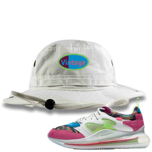 OBJ x Nike Air Max 720 Sneaker Hook Up Vintage Logo White Bucket Hat