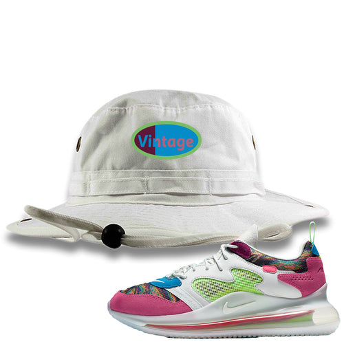 OBJ x Nike Air Max 720 Sneaker Match Vintage Logo White Bucket Hat