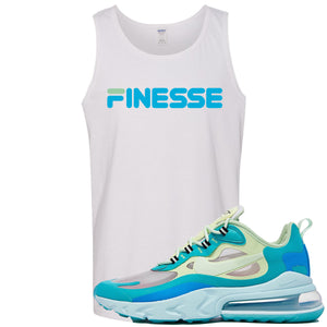 Nike Air Max 270 React Hyper Jade Sneaker Hook Up Finesse White Mens Tank Top