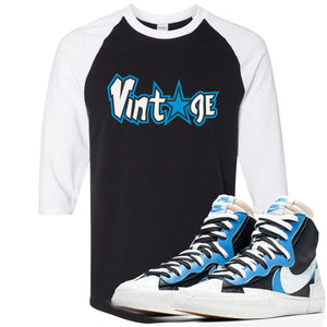 Air Max Sacai Blazer University Blue Sneaker Hook Up Vintage Logo with Star Black and White Ragalan T-Shirt
