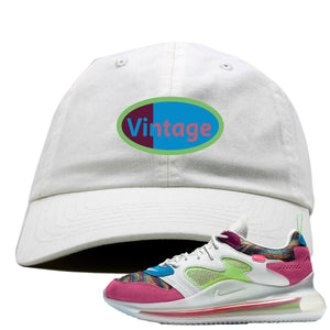 OBJ x Nike Air Max 720 Sneaker Hook Up Vintage Logo White Dad Hat
