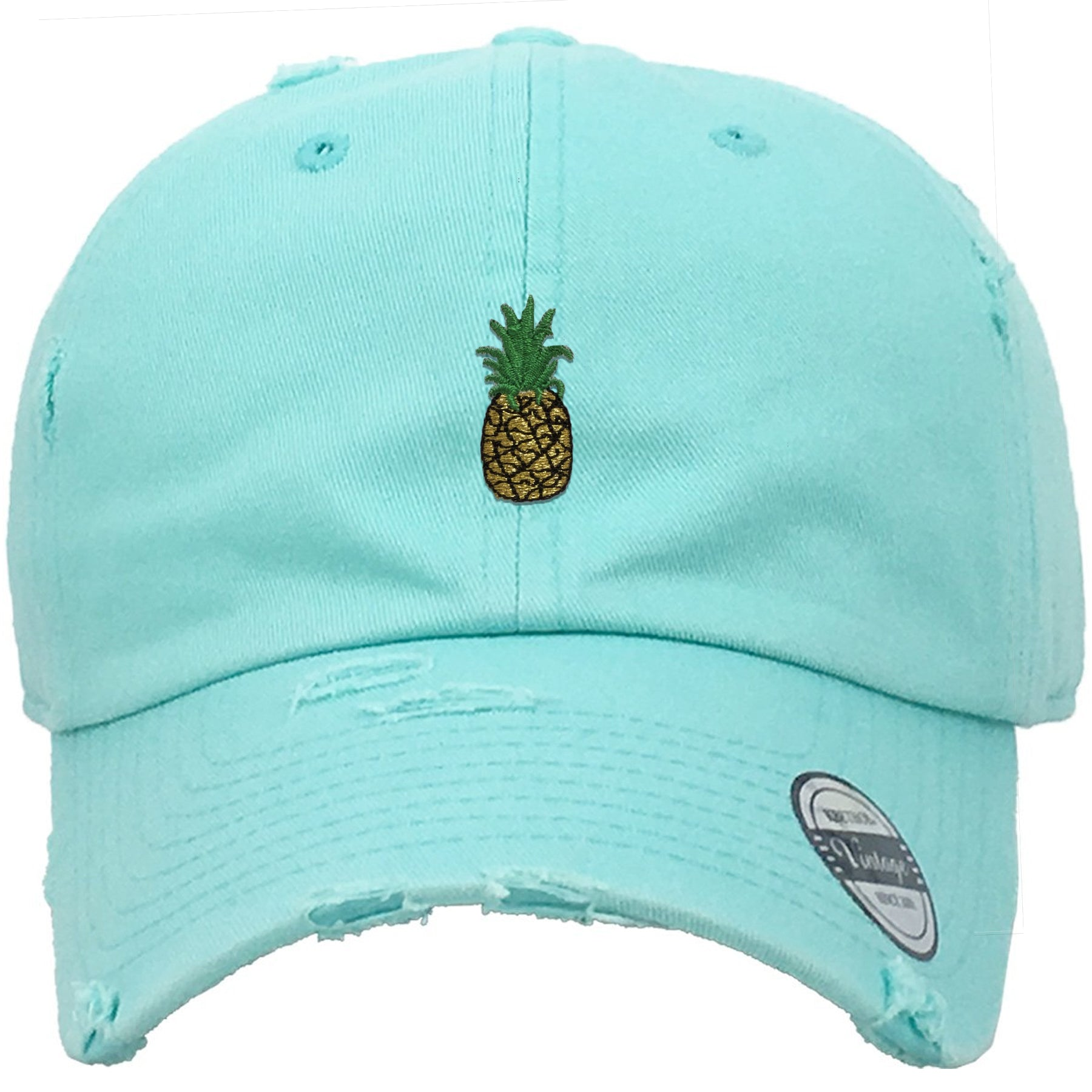 Pineapple Mint Adjustable Distressed Dad Hat – Cap Swag bd781e167b1