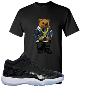 Air Jordan 11 Low IE Space Jam Sneaker Hook Up Polo Biggie Black T-Shirt