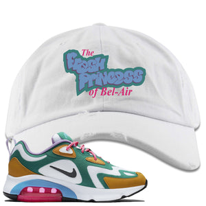 Nike WMNS Air Max 200 Mystic Green Sneaker Hook Up Fresh Princess White Distressed Dad Hat